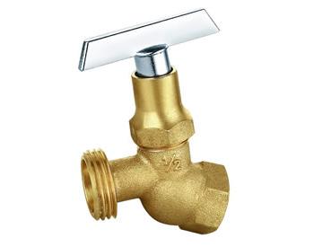 """EZ-FLUID Brass Hose Bibb Series Heavy Pattern Female 3/4""""FIP X3/4""""MHT No-Kink Hose Bibb w/ Loose Key NOT FOR PORTABLE WATER"""